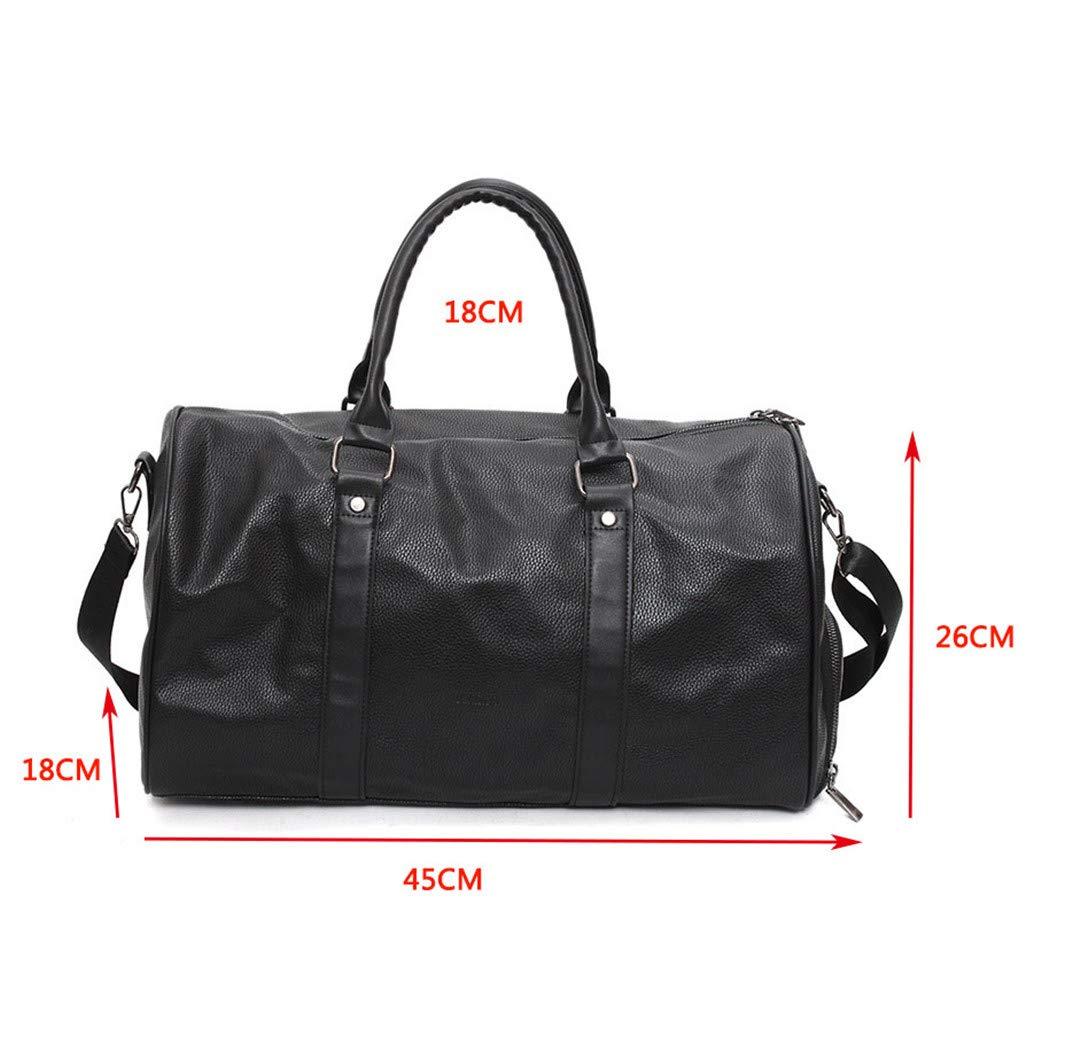 13352da3c9b8 Amazon.com: KHDRVJ Black Pu Leather Gym Bag Big for Women Fitness ...