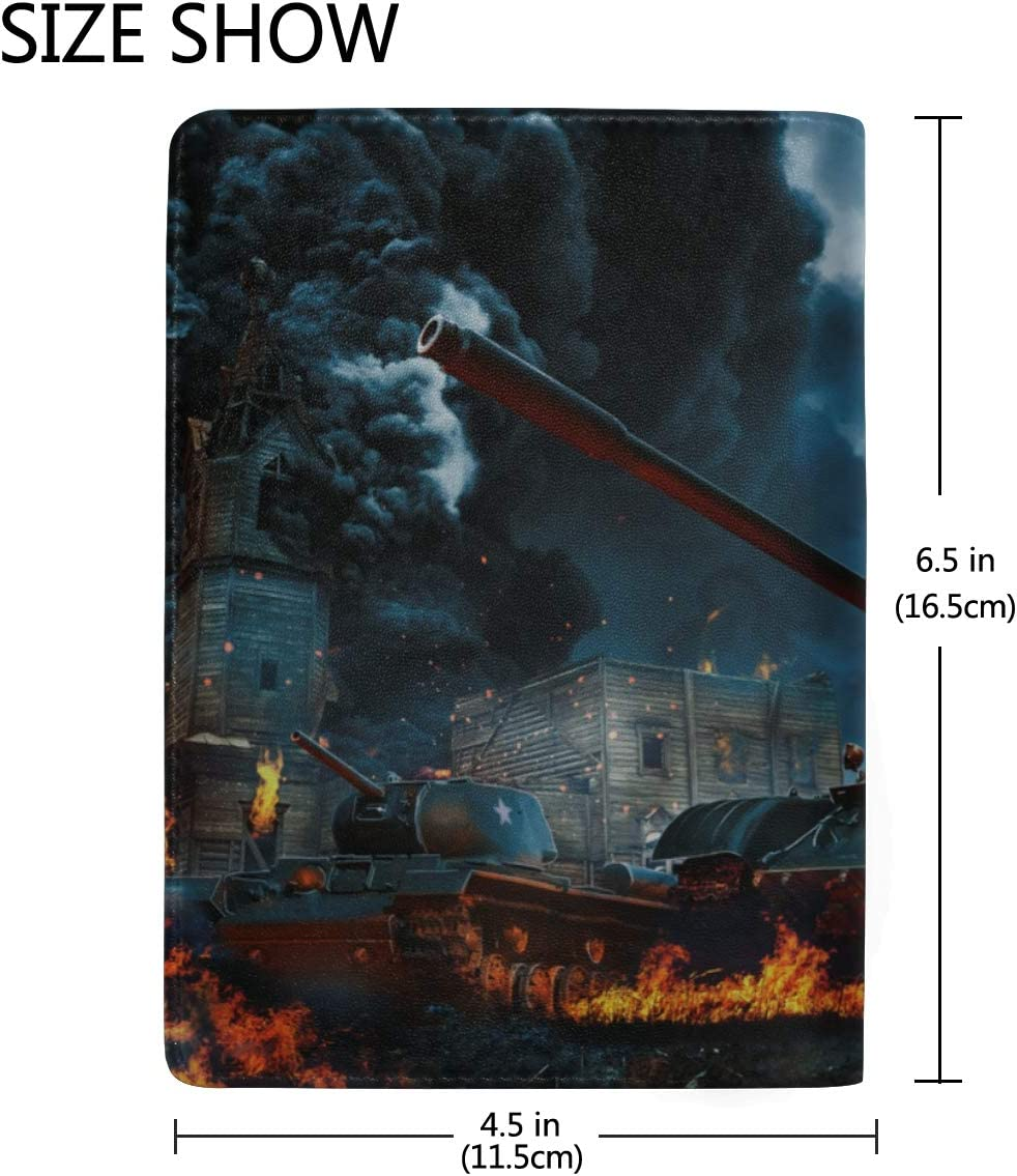 Us Passport Cover Cruel And Merciless War Stylish Pu Leather Travel Accessories Us Passport Holder Cover For Women Men