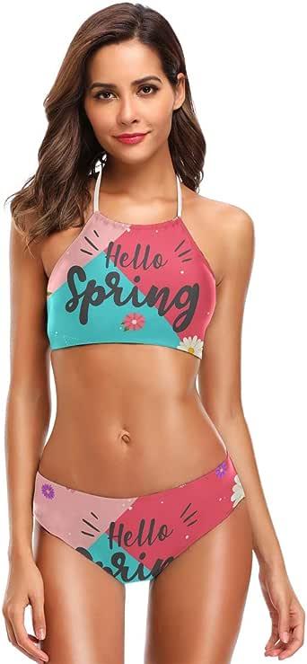 Amazon.com: Spring Hello Women's Cute Bikini Sets Beach