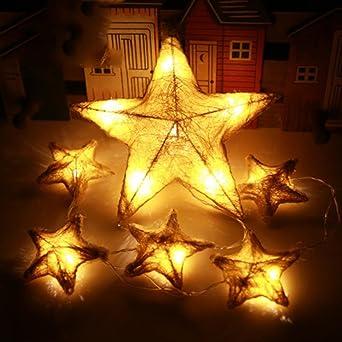Weihnachtsdeko Lichterketten Außen.Zezkt Home 6 Led Star Led Lichterkette Aussen Fensterdeko