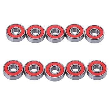 lalang 10pcs sin Fricción de rodamientos ABEC 9 para skateboard, Roller, Juego de ruedas para patines en línea (Wheel: Amazon.es: Deportes y aire libre