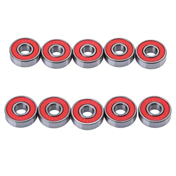 lalang 10pcs sin Fricción de rodamientos ABEC 9 para skateboard, Roller, Juego de ruedas
