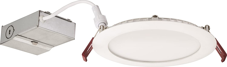 Lithonia Lighting WF6 30K40K50K 90CRI MW M6 LED Color Temperature Selectable Ultra Thin Recessed Downlight, 3000K | 4000K | 5000K, White - -