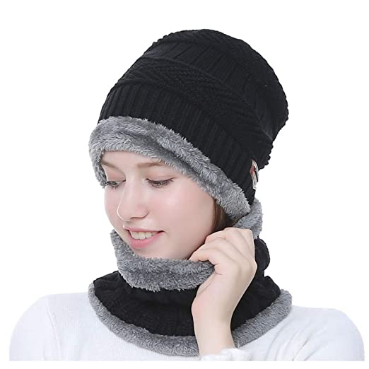 b81a9ed3a571c Image Unavailable. Image not available for. Color  Womens Winter Warm Snow  Ski Slouchy Beanie Knit Hat and Scarf ...