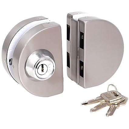 Cerradura de puerta de cristal de desplazamiento - TOOGOO(R) cerradura de puerta de