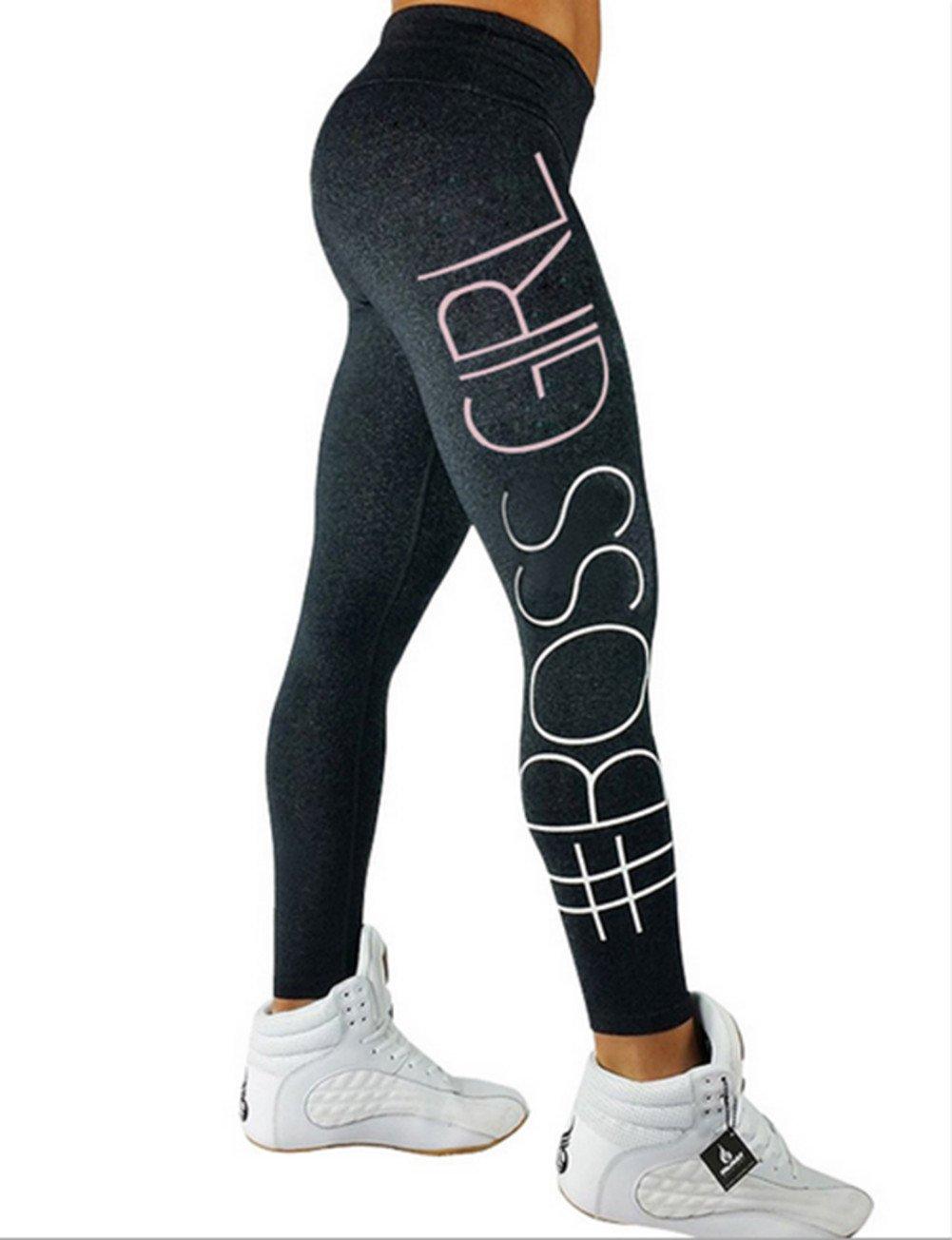SRYSHKR 2018 Pants Yoga Leggings High Workout Waist Fitness Women's Running Premium Thick Slimming Sportwear Hot Sale Sport Trousers Riding Training Tight (Dark Gray, M)