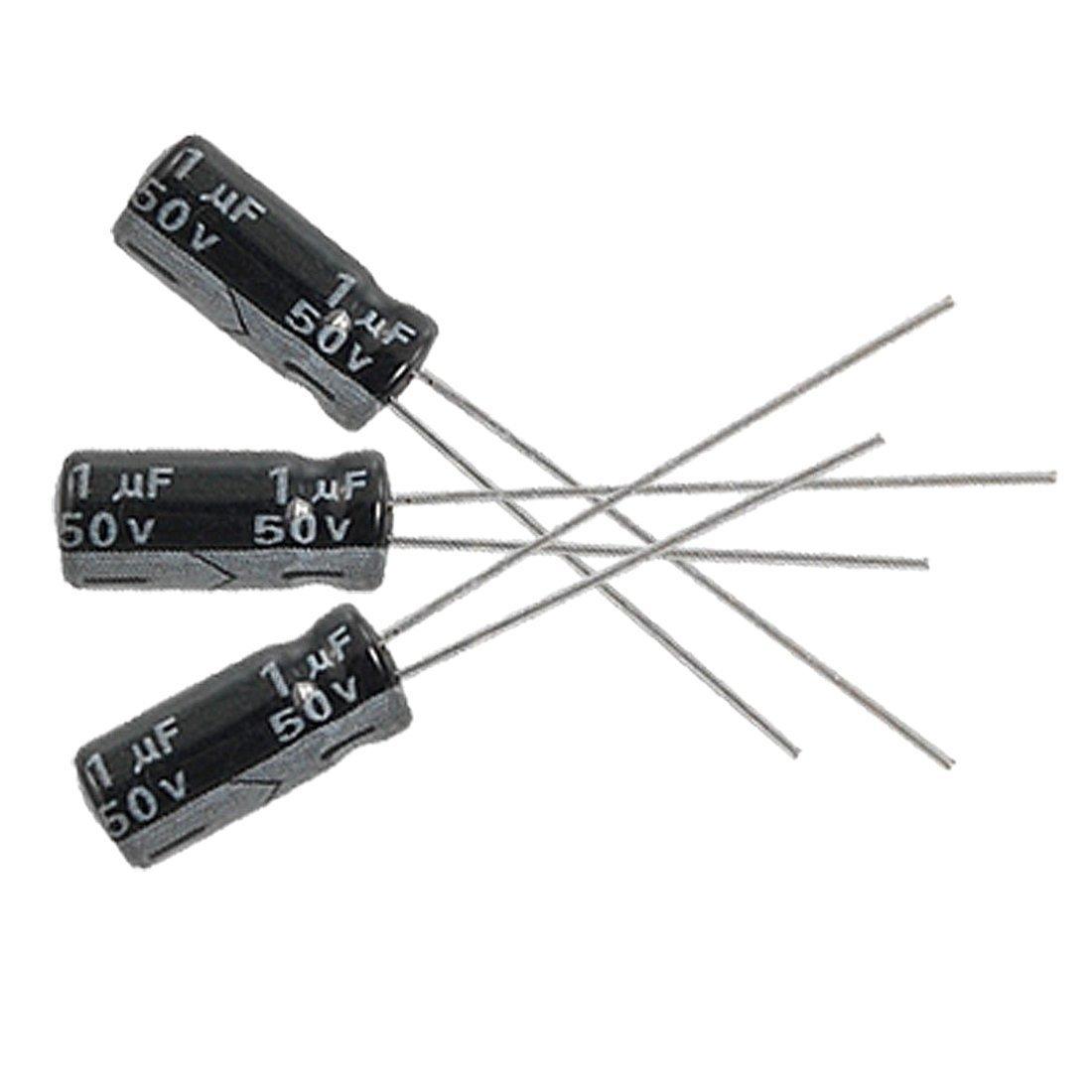 Electrolytic Capacitors - SODIAL(R) 10 x 1uF 50V 105C Radial Electrolytic Capacitor 5x11mm