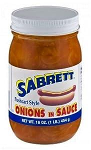 Sabrett Pushcart Style Onions In Sauce, 16 oz (4 Jars)