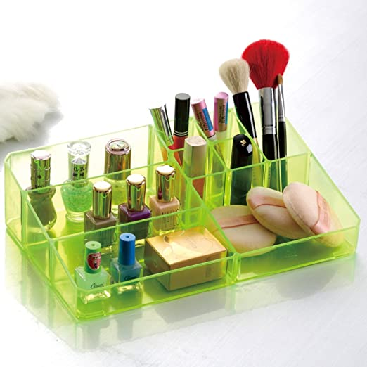 Organizador de cosméticos grande, Caja de almacenaje transparente ...