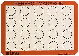 "Silpat Perfect Macaron Non-Stick Silicone Baking Mat, 11-5/8"" x 16-1/2"""