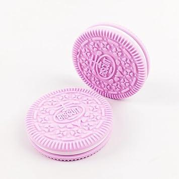 2pc silicona Mordedor Cookie sonajero y mordedor libre de ...