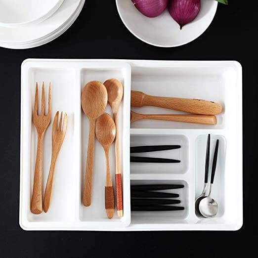 Alvar - Organizador de cubiertos y cajones con cuchara separada para cubertería y cuchillos: Amazon.es: Hogar