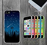 Meteor Art Night Custom made Case/Cover/Skin FOR iPhone 5C Color -White- Rubber Case (Ship From CA)