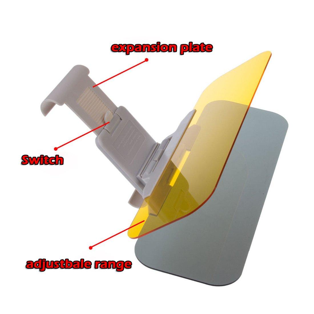 TOOGOO R Brise-soleil de voiture avec deux brise jaune et noire pour antieblouir pendant le jour et le soir