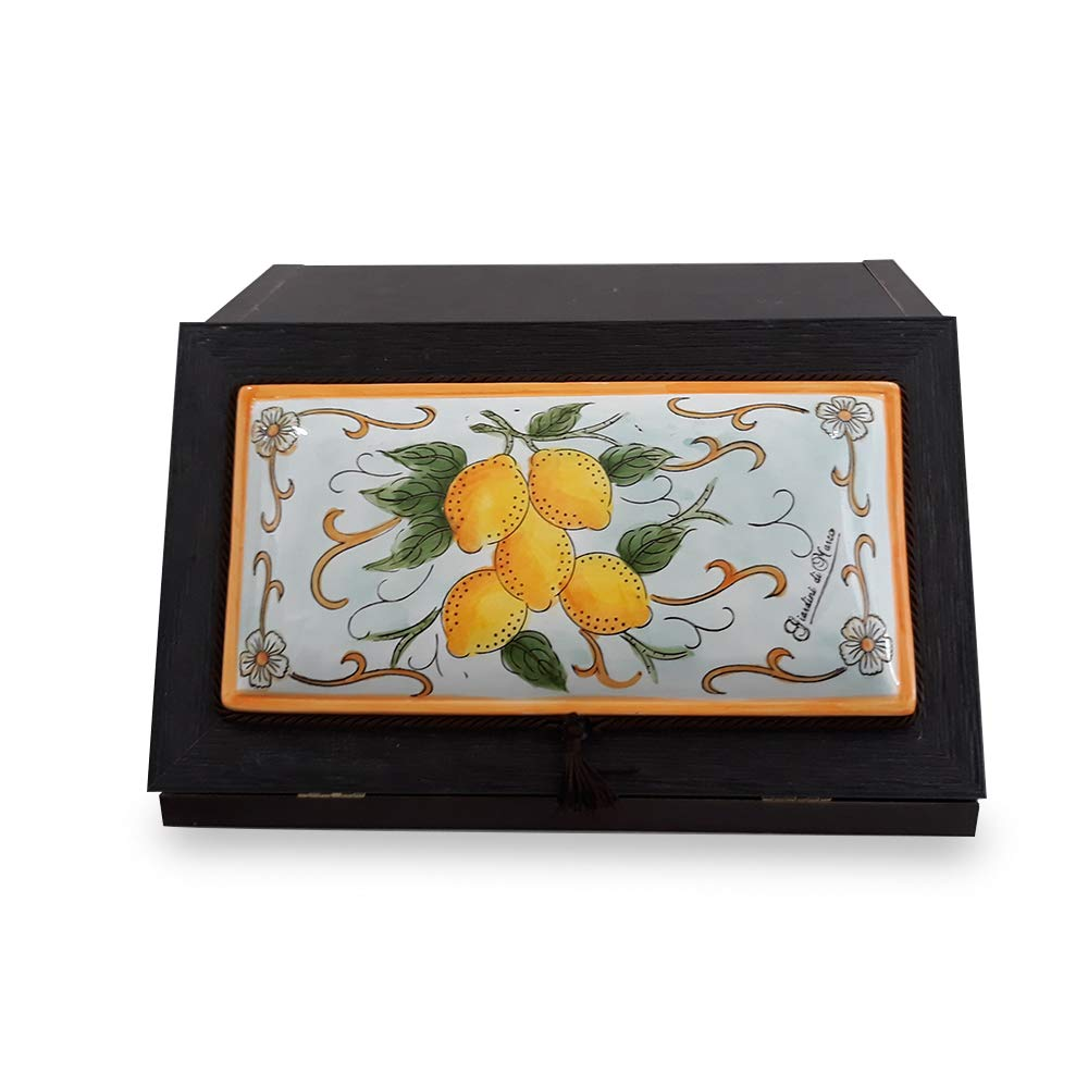 Ceramica Giardini di Marzo PORTAPANE No Giallo//Arancio
