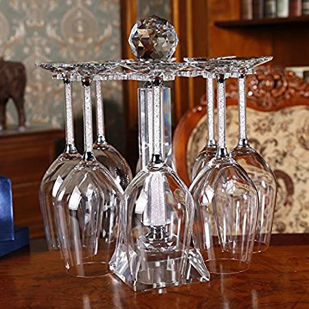 img buy Wine Cup Holder Wine Glass Inverted Hang Crystal Cup Rack,B