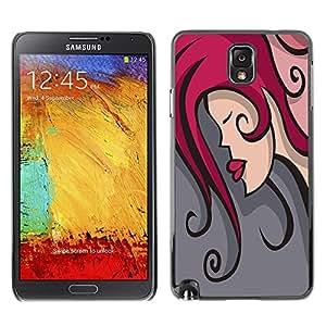 Jordan Colourful Shop - FOR Samsung Note 3 N9000 - The beauty of the kiss - Personalizado negro cubierta de la caja de pl??stico