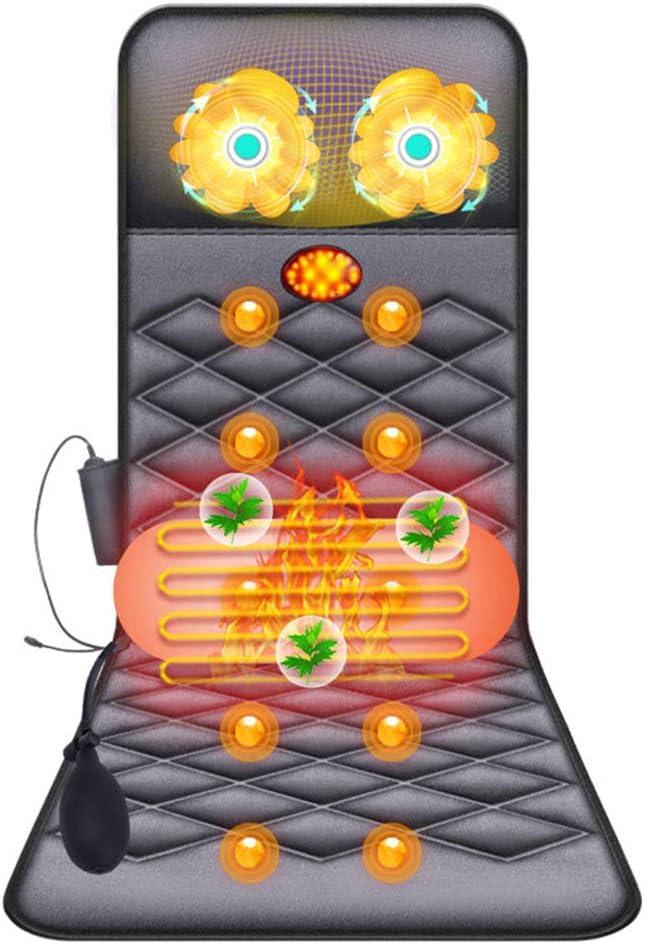 電気バックマッサージマットレス赤外線暖房ネックマッサージマットレスエアバッグバックウエストヒップ多機能フルボディ温水マッサージマットレスマット