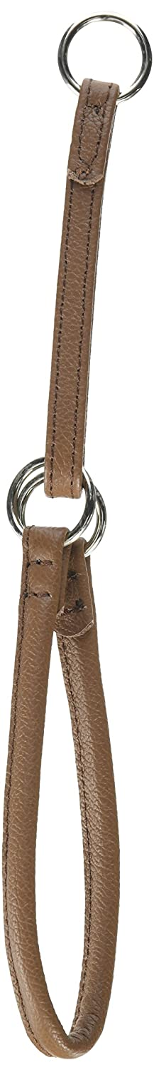 Dogline 1 3-Inch Wide Soft Rolled Genuine Leather Martingale Collar, 18-Inch, Brown