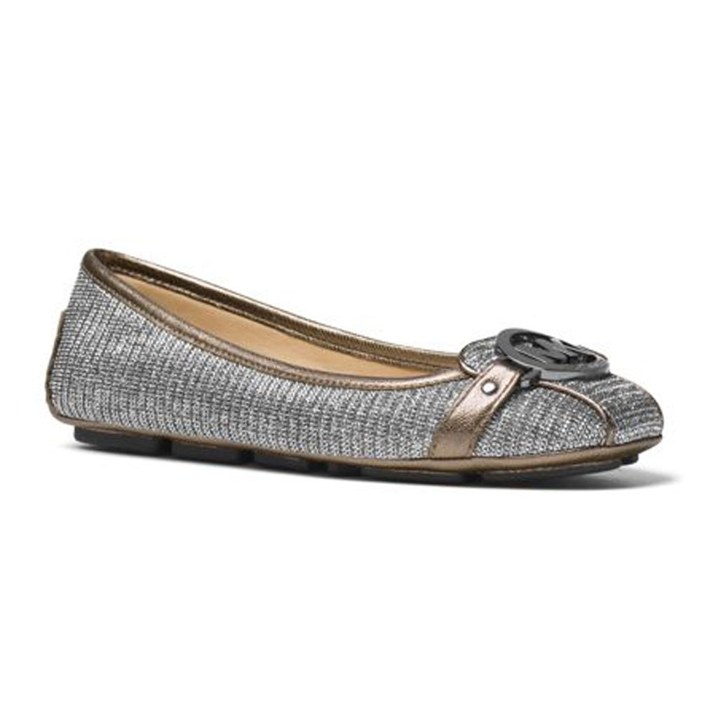 9d7a97bab Amazon.com   MICHAEL Michael Kors Women's Fulton Moc Black/Silver Chain  Mesh/Metallic 6.5 M   Flats