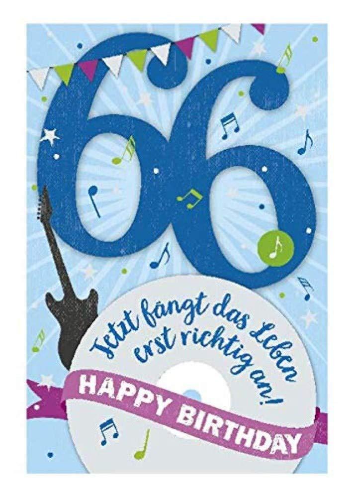 Gl/ückwunschkarte mit Musik Geburtstag 66 Depesche 5698.085