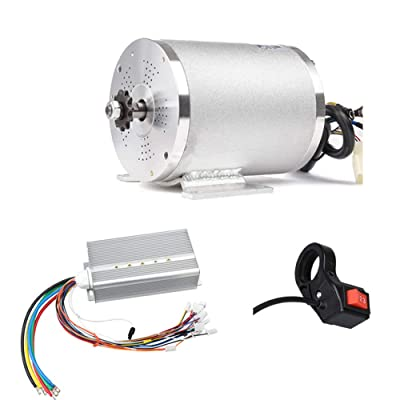 Electric Scooter Motor 48V 2000W Mid Drive Motor with Hard Start 45A DC Brushless Controller 3-Speed Switch for Go Kart ATV Electric Bicycle Conversion Kit : Sports & Outdoors