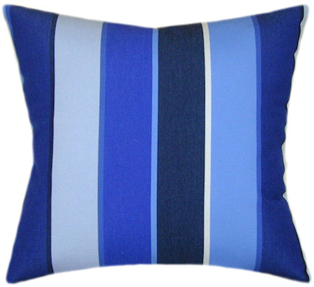 Amazon Com Sunbrella Milano Cobalt Indoor Outdoor Striped Patio