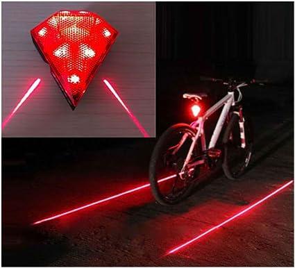 Cycling Bike Bicycle Red Diamond 8 LED Tail Light Rear Laser Lamp Waterproof