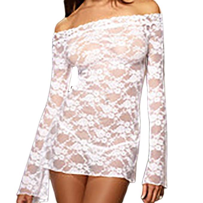 Fuera del hombro mini vestido,Morwind lenceria encaje hombro descubierto vestido bodycon ropa interior mujer