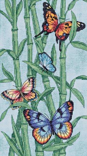 Dimensions Butterflies And Bamboo Cntd X-Stitch Kit (Cntd Cross Kit Stitch)