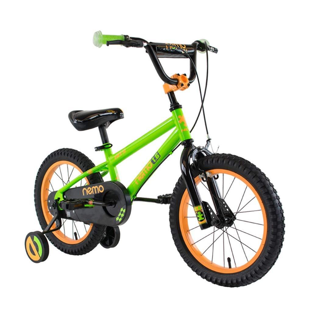 Biciclette per Bambini Bicicletta Rossa della Ragazza Bicicletta per Ragazzi Bici da 12, 14, 16 Pollici Il Miglior Regalo per I Bambini Bicicletta da Strada Sportiva All'aperto