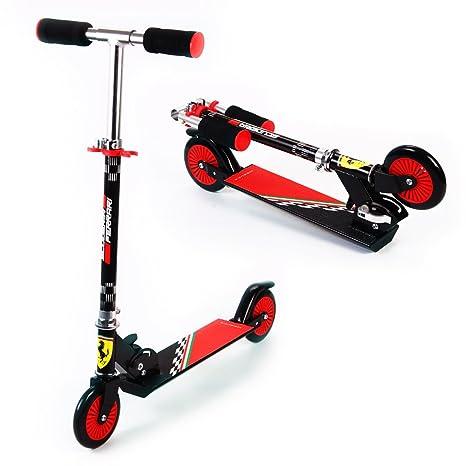 Ferrari Scooter Patinetes para Niños Plegable Altura Ajustable Escúter Dos Ruedas de aluminio de 3 a