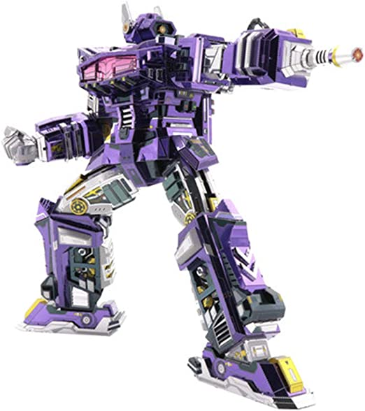MQKZ Shockwave Transformers d Rompecabezas Tridimensional de Metal ...
