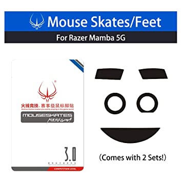 Mouse Feet for Razer Taipan Mouse Skatez 2 Sets of Replacement Mice Feet