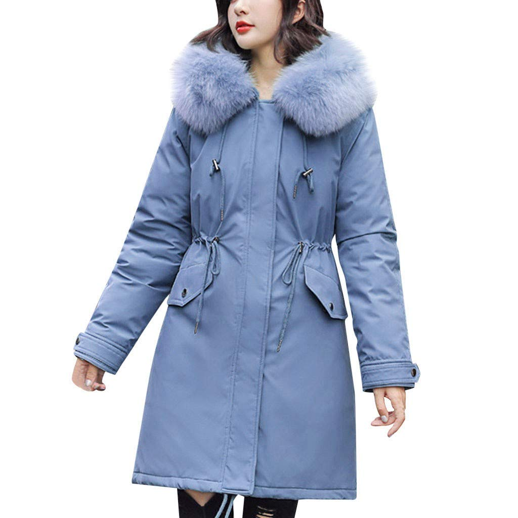 Womens Down Jacket,Vintress Ladies Slim Hooded Down Padded Long Winter Warm Parka Outwear Coat by Vintress