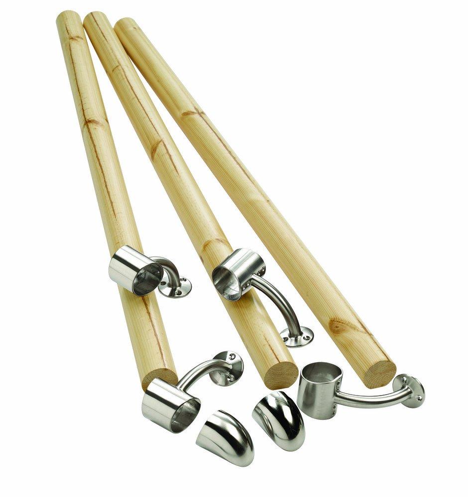 Richard Burbidge KIT03 Fusion Boxed Handrail Kit - Pine/Chrome
