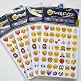 19 Pack 912 Piece Random Instagram Twitter Icon Emoji Stickers Ipod Ihome Phone Iphone Home Button Luggage Laptop Macbook Notebook Diary Message Funny Smile Vinyl Sticker Reasonable Unique Decor