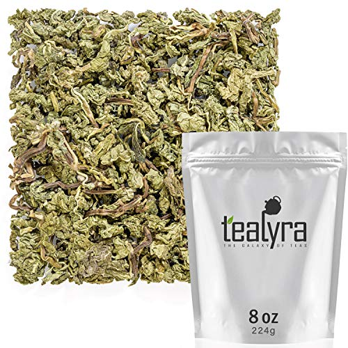 Tealyra – Peppermint Absolute – Unique Whole Leaves Peppermint – Digestive – Relaxing – Loose Tea – Caffeine-Free – Naturally Grown – 224g (8-ounce)