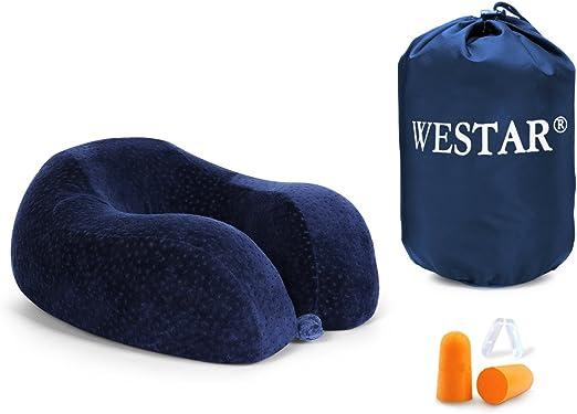 Amazon.com: WESTAR U-Shaped Comfy Memory Foam Pillow with ...