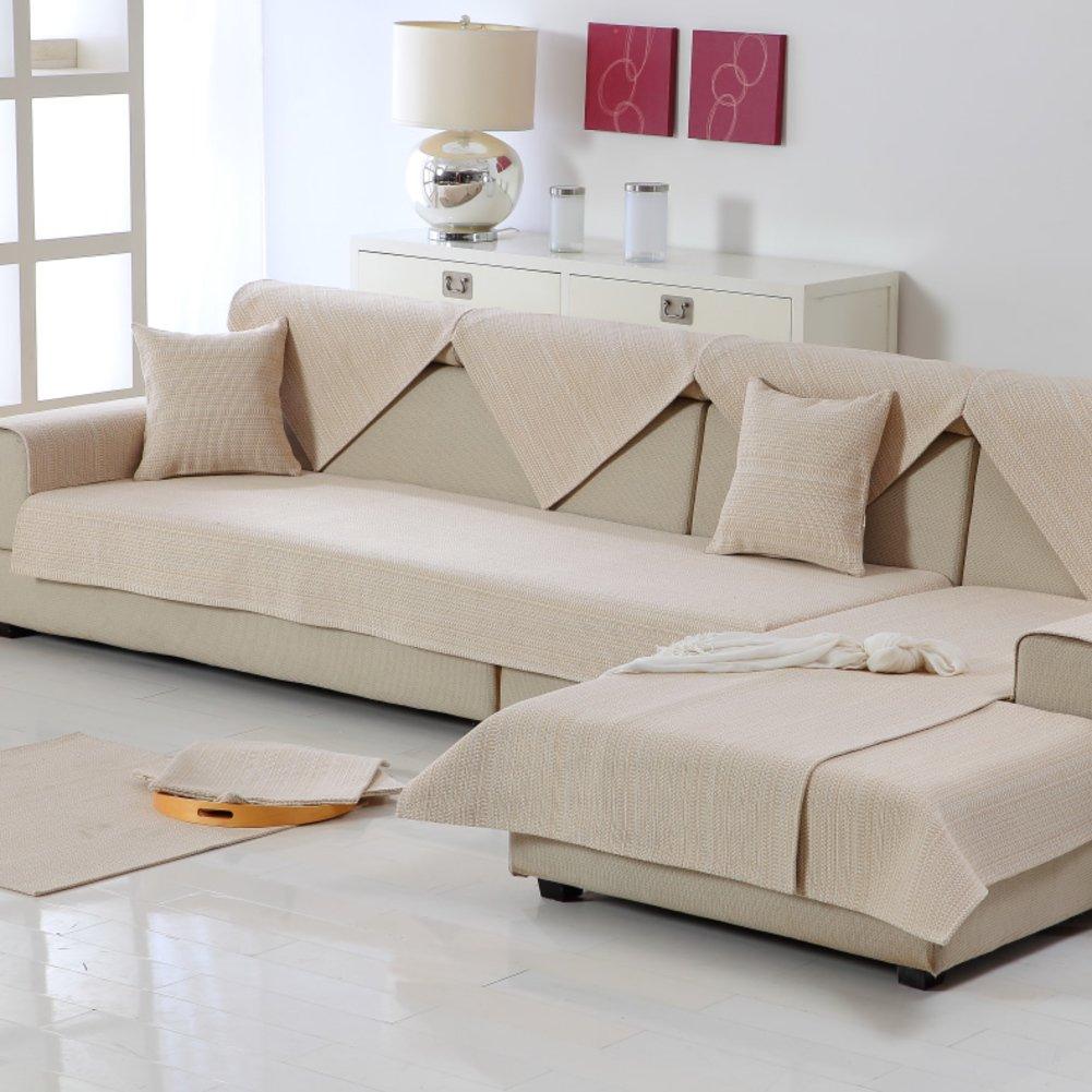 M&XGF Sofabezug,1 Stück Vintage Wildleder Couch Cover Anti-rutsch-möbel Protektor Für Kissen Sofas-1 stück-H 110x260cm(43x102inch)