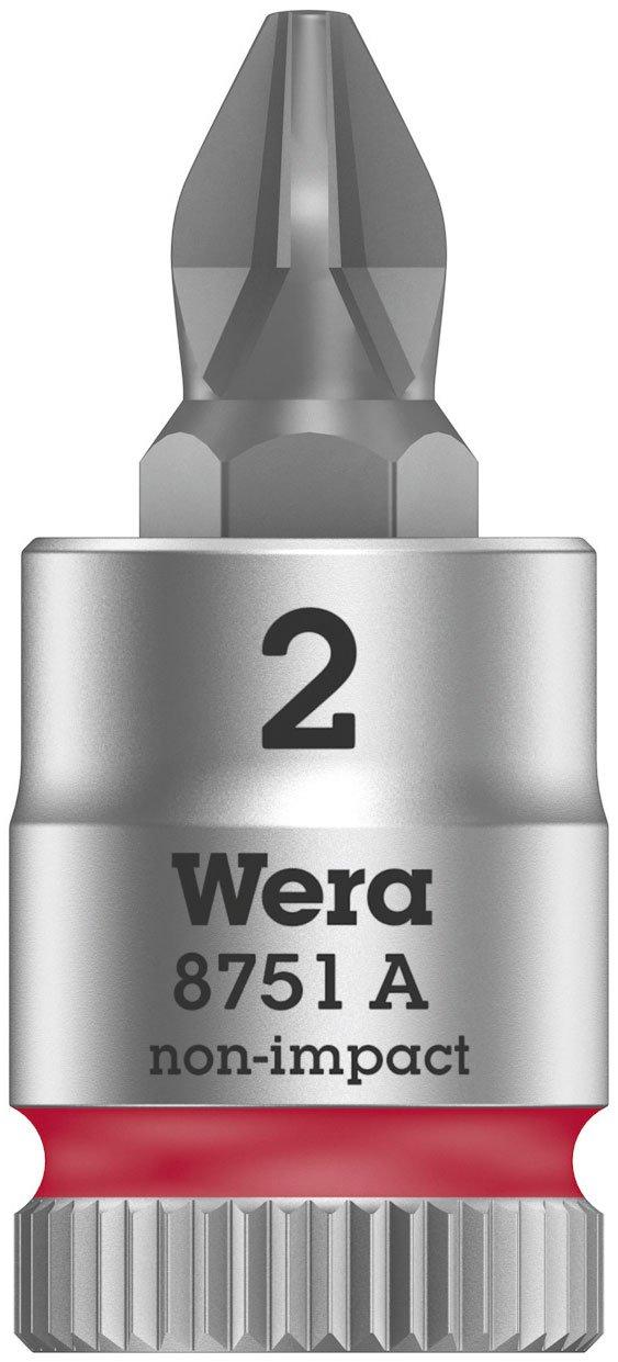 PH 1 x 28 mm Wera 05003350001 Vaso de Punta con Arrastre de 1//4 Rojo