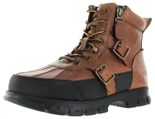 282818a593d Polo Ralph Lauren Demond Men's Leather Duck Boots: Amazon.ca: Shoes ...