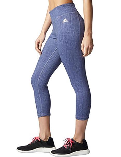 8ba8fef3b575 Amazon.com  adidas Women s Climalite Studio 3 4 Length Active Tight ...
