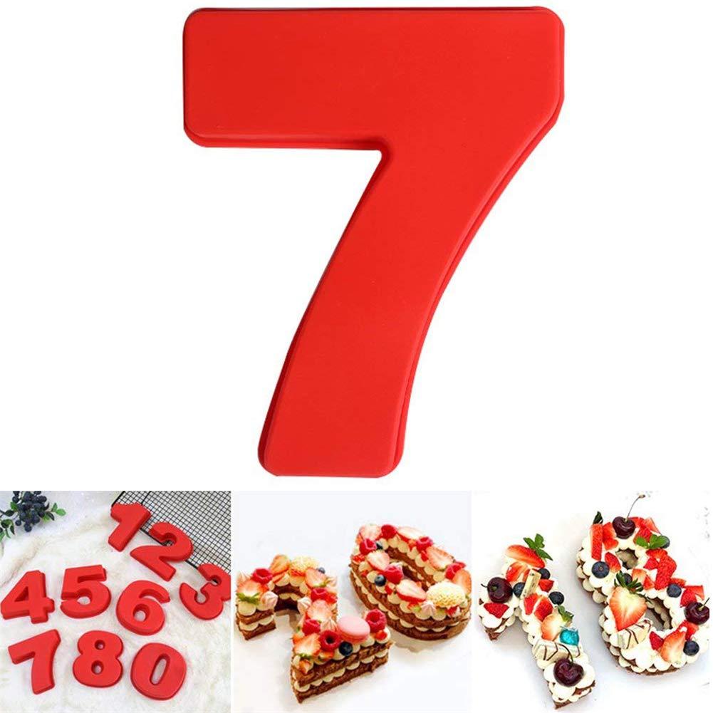 Silikon Nummern Backform Zahlen Silikonform Ziffer Kasten DUBENS Gro/ße Anzahl 0-9 Kuchenform Backen Jubil/äum Zahl Geburtstag Hochzeit Jahrestag Kuchen Dose
