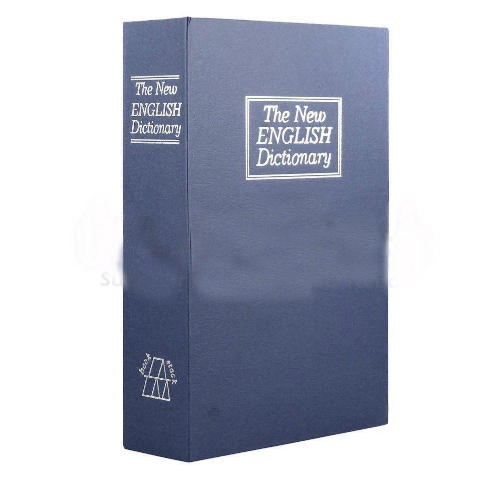 ブルーSmallホームセキュリティキーロック辞書ブックセーフストレージボックス B078QC5YGR
