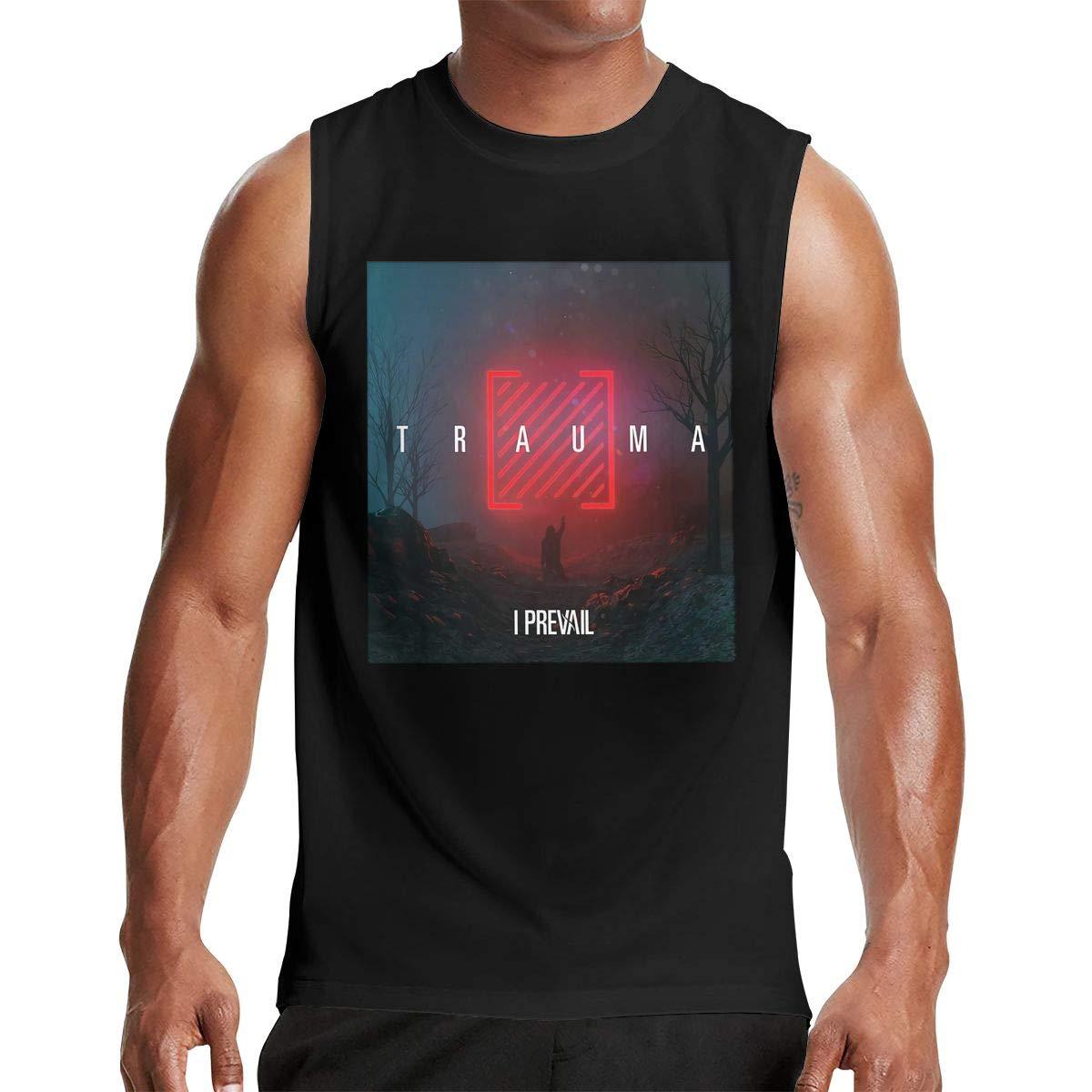 Thomlarryca I Prevail Trauma S Gym Muscle T Shirt Classic Athletic Sleeveless T Shirts