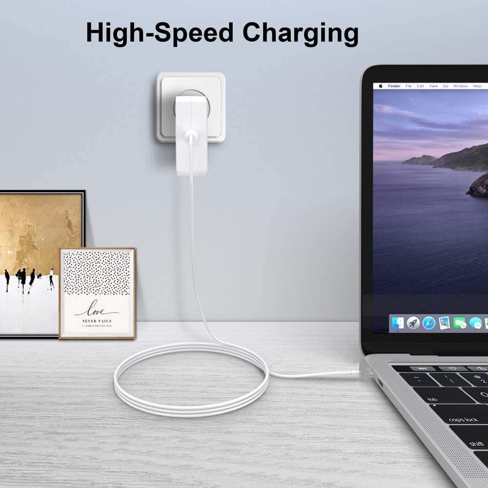 SunMac 85W T-Tip Adaptateur Chargeur Compatible avec Mac Pro 13 /& 15 /& 17 Pouces A1435 A1278 Mac Book Air Chargeur A1286 A1465 A1181 et Plus Mod/èles Mac