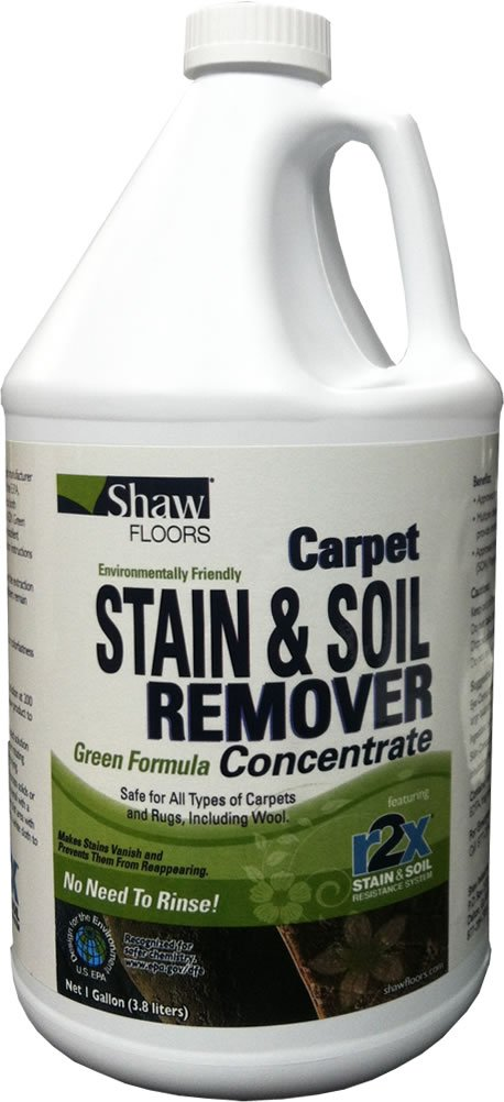 Shaw Floors R2X Carpet Stain and Soil Remover Green Formula Concentrate Refill 1 Gallon by Shaw Floors (Image #1)