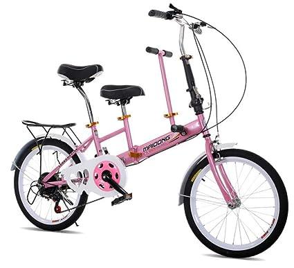 RFV Bicicleta Padre-Hijo, Bicicleta Infantil Portátil, Bicicleta de Doble Velocidad Plegable,