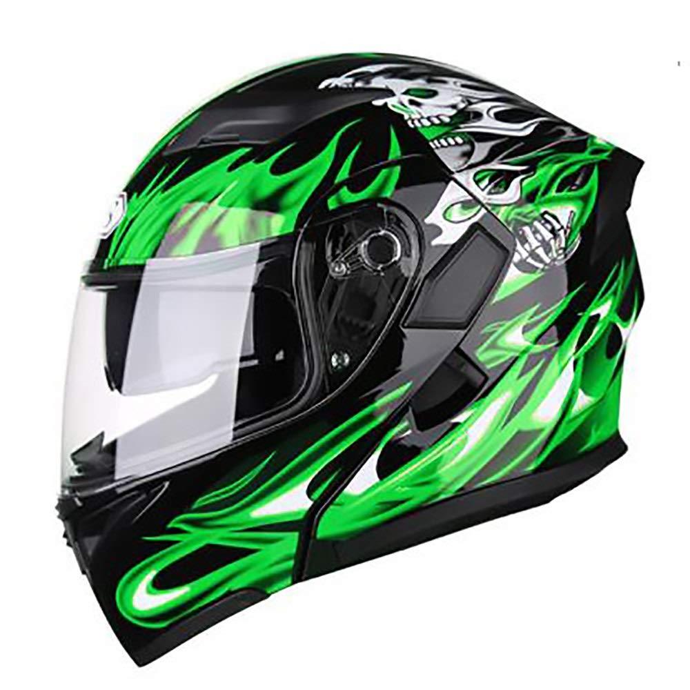 HYH 緑炎大人自転車ヘルメット乗馬電気自動車オートバイヘルメット自転車マウンテンバイクヘルメット屋外乗馬機器 いい人生 (Size : XXL) XX-Large  B07SD4L7P3